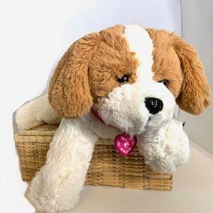 "Barking Plush Puppy Dog Barbie Mattel 12"""